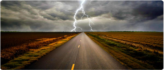 Road with Lightening